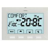 Thermostat digital journalier 3V série NEXT  coloris blanc