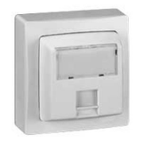 Prise RJ45 Cat.6 FTP  appareillage saillie complet - blanc