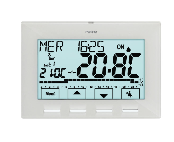 Thermostat programmable digital hebdomadaire 230v s rie for Perry 1crcr028b