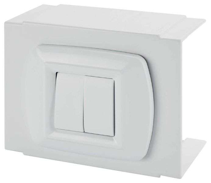 kit bo te prise 2p t 16a cache plaque accessoires syst me de goulottes standards. Black Bedroom Furniture Sets. Home Design Ideas