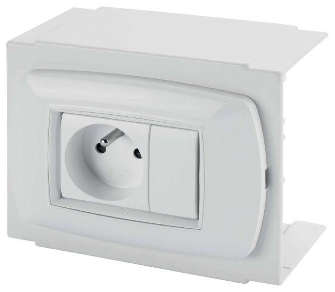 kit bo te interrupteur unipolaire 2 caches plaque accessoires syst me de goulottes. Black Bedroom Furniture Sets. Home Design Ideas
